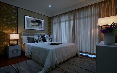 卧室窗帘新中式风格装潢设计图片