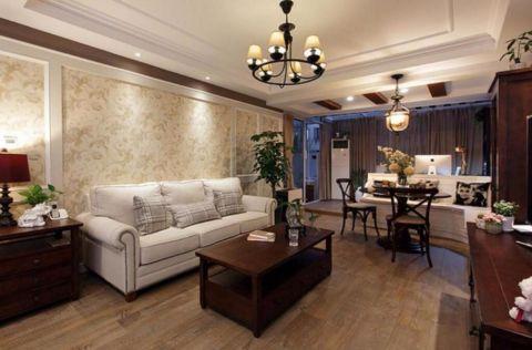 2021美式90平米装饰设计 2021美式三居室装修设计图片