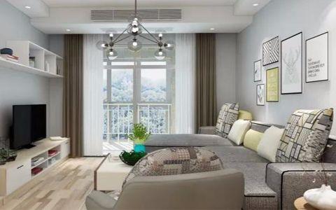 中冶德贤公馆85平现代风格二居室装修效果图