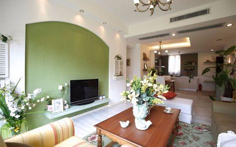 客厅吊顶田园风格装饰设计图片