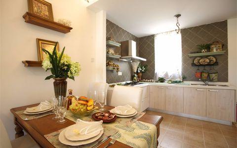 厨房背景墙田园风格效果图