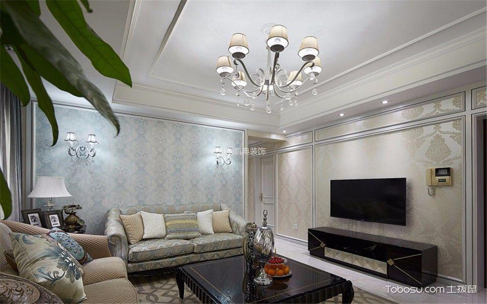 时光浩韵88平米新古典风格2室装修效果图