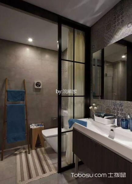 卫生间 隔断_滨海御庭87m2现代简约风格小户型