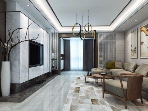 迎宾路3号112平三居室新中式风格装修效果图