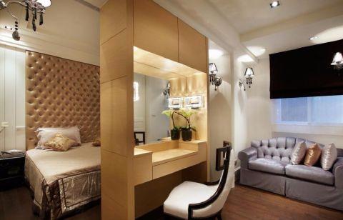 卧室隔断现代简约风格装潢图片