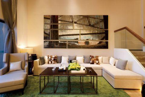 紫金华府120平现代简约风格二居室装修效果图