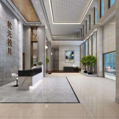 300万宁海乾元塑机模具厂办公住宅3000平方装修效果图