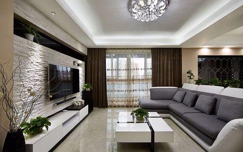 客厅推拉门现代简约风格装潢设计图片