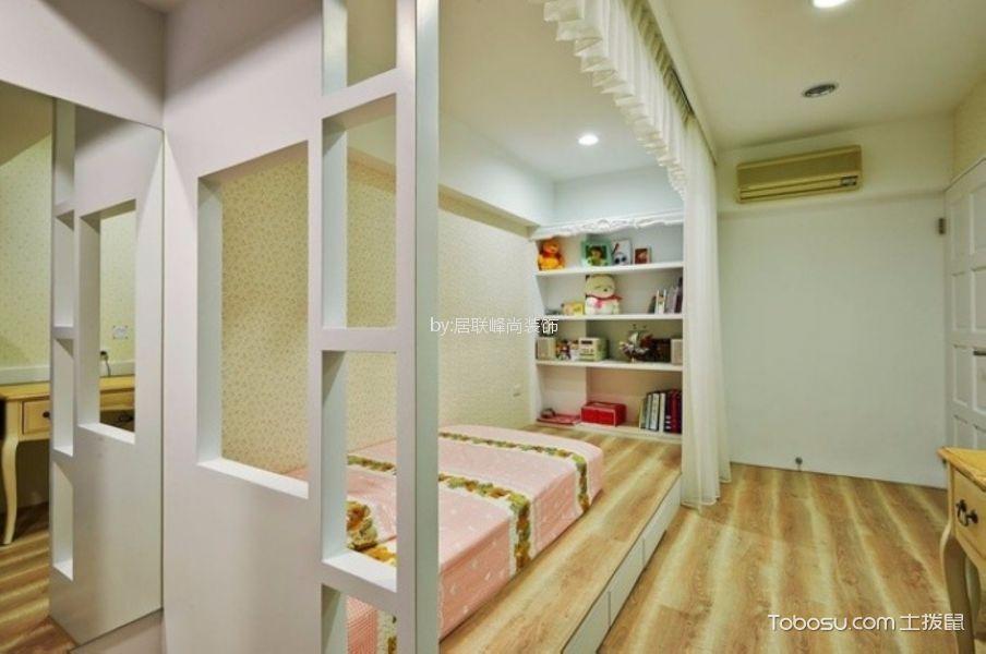 卧室 榻榻米_翠屏城87平二居室田园风格装修效果图