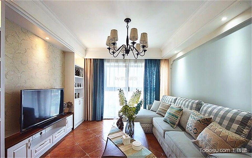 桃源人家96平米美式风格2室装修效果图