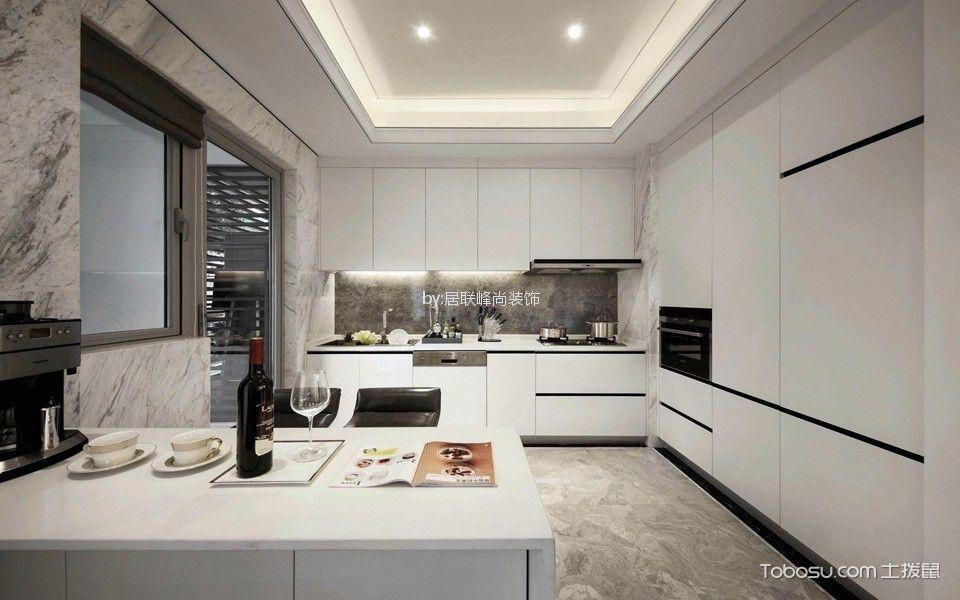 餐厅白色橱柜现代风格效果图
