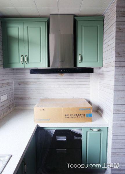 厨房绿色细节美式风格装潢效果图