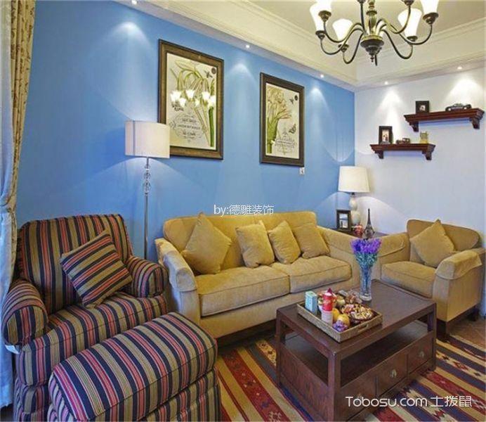 乌龙江大区72㎡地中海风格二居室装修案例