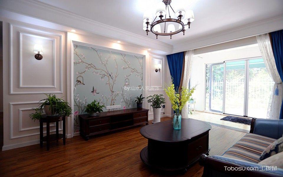 保利上海五月花77平美式风格两室装修效果图