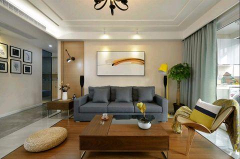 杭州140平日式风格三居室装修效果图