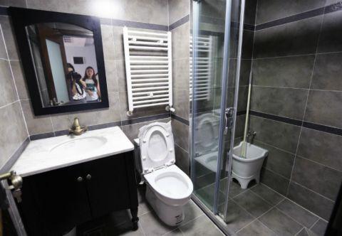 卫生间隔断美式风格装饰效果图