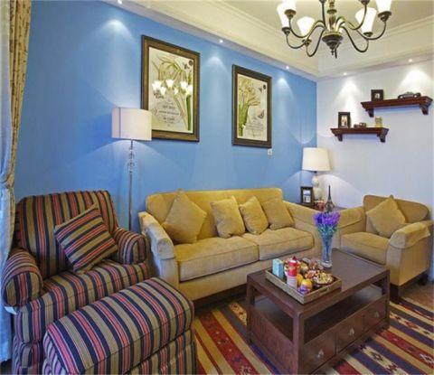 乌龙江大区72平米地中海风格二居室装修案例