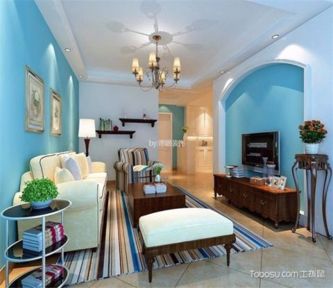 客厅吊顶地中海风格装修设计图片