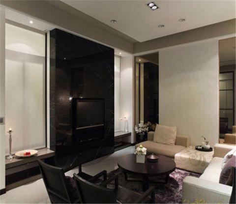 淮安半岛88平米现代简约风格套房装修效果图
