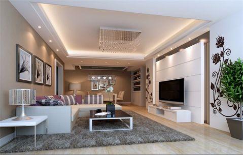 博仕后龙港城128平现代简约风格三居室装修效果图