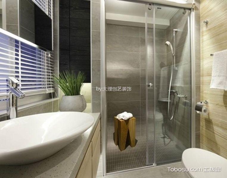 卫生间 隔断_河畔金色105平现代简约风三居室装修效果图