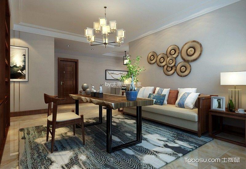 五龙湾·府东天地170平米新中式风格四居室装修效果图