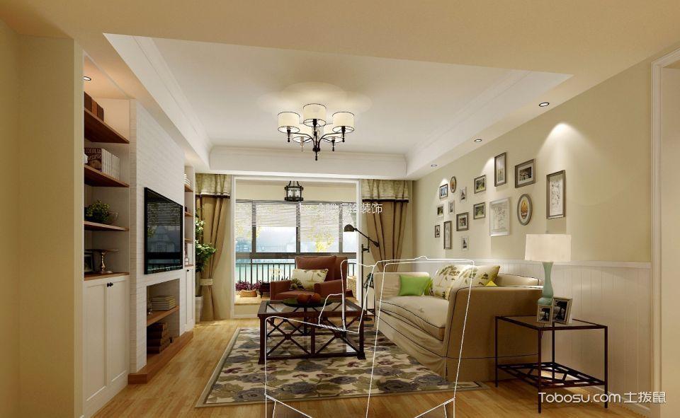 禹州翡翠湖郡119㎡现代风格三居室装修效果图
