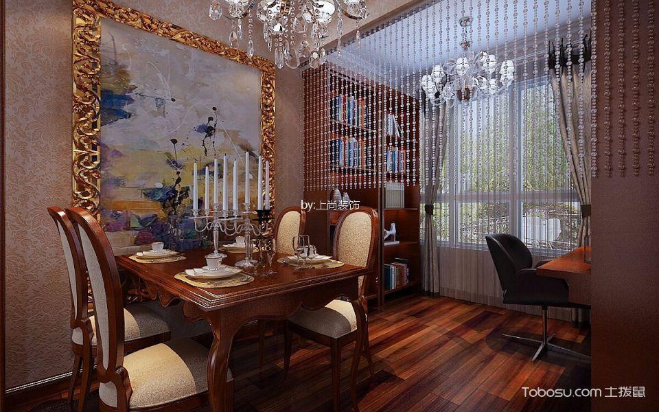 贝肯山90㎡美式风格两室一厅装修效果图