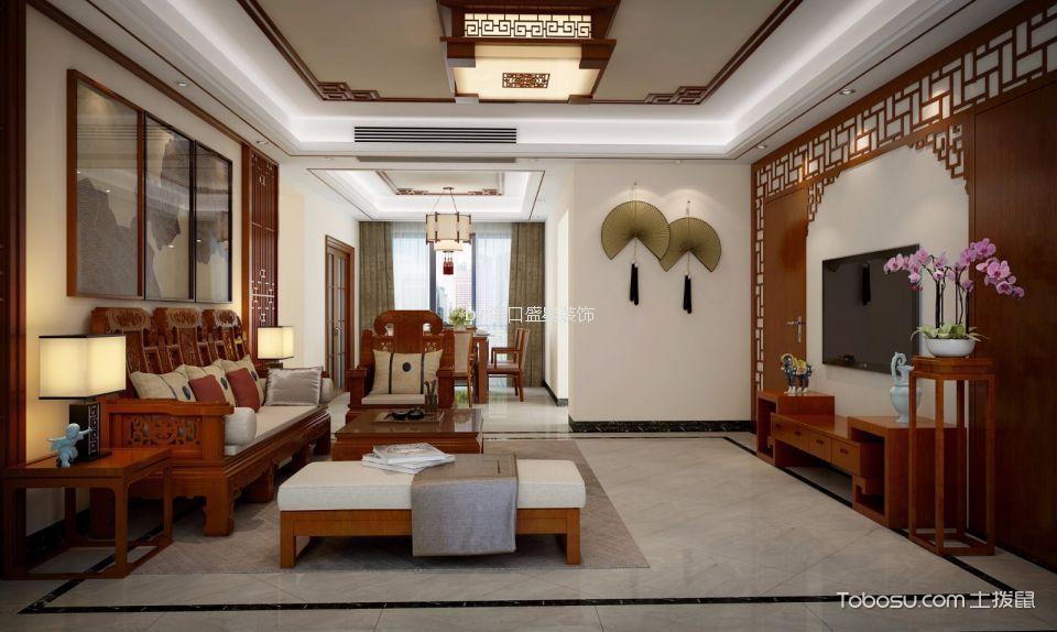 海航中式风格四居室装修效果图