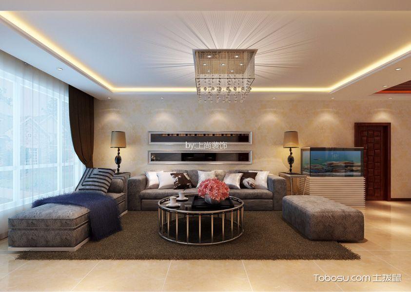 松浦观江国际80㎡现代风格两室一厅效果图