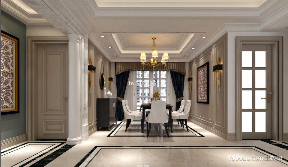 龙城国际130平方欧式三居室装修效果图