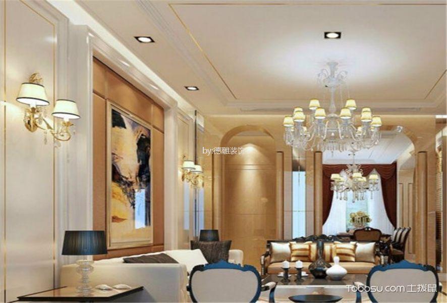 泰禾红悦125㎡现代风格三居室装修效果图