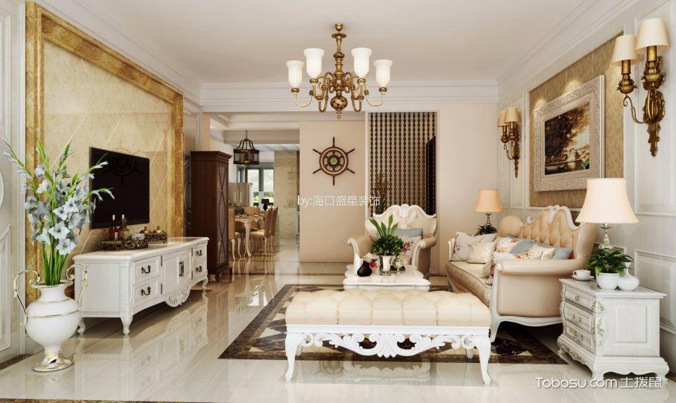 海航城美式风格四居室装修效果图