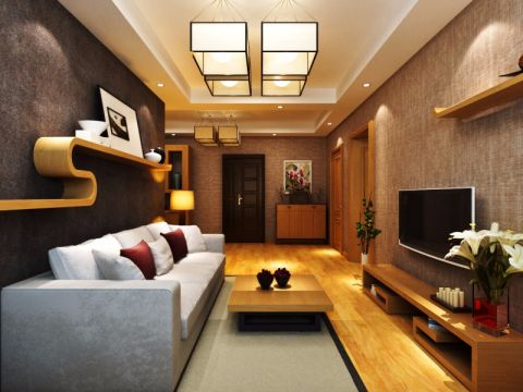 2019新中式90平米效果图 2019新中式二居室装修设计