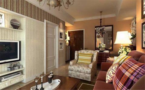 福州温泉城120平米美式风格三居室装修效果图