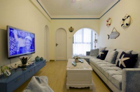 客厅细节地中海风格装潢设计图片