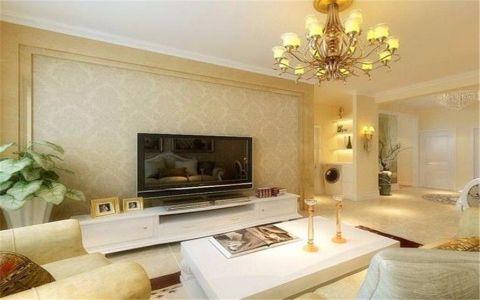 闽江世纪城135平米现代简约风格三居室装修效果图