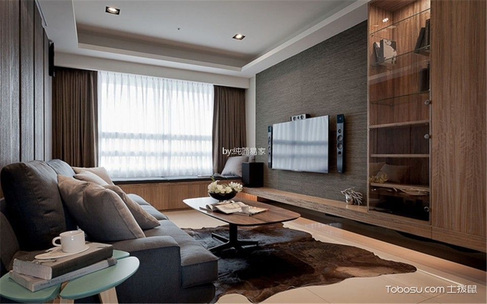 新古典风格90平米三室两厅新房装修效果图