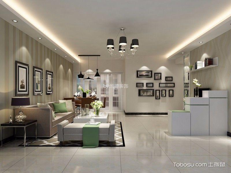 嘉怡苑87m²现代简约风格两房两厅装修效果图