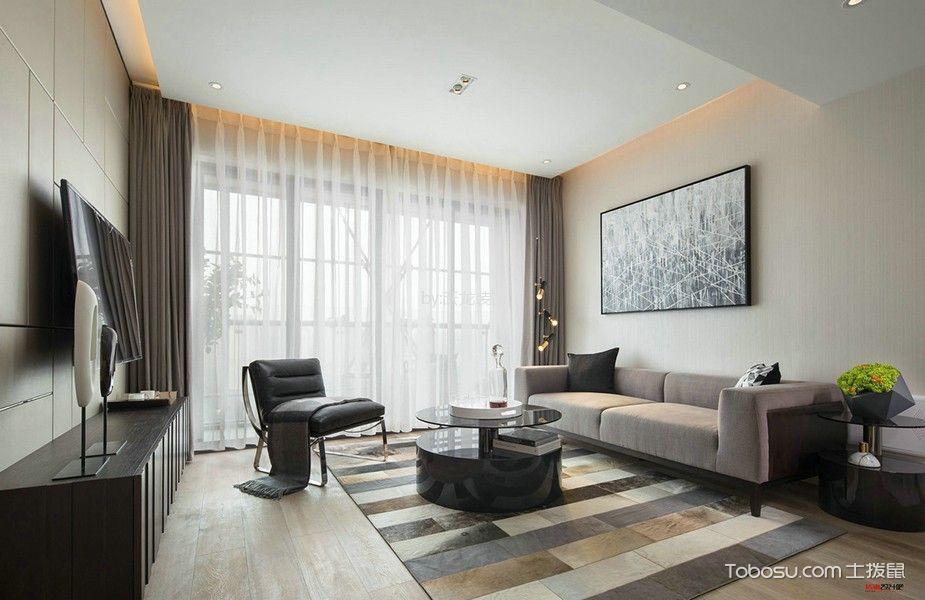 梧桐香郡120平现代风格三居室装修效果图