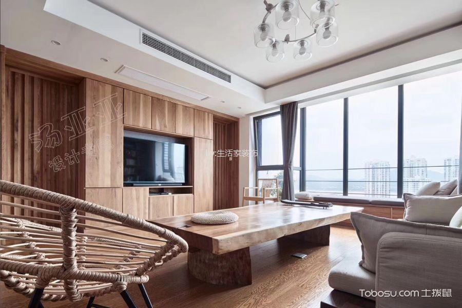 客厅米色细节混搭风格装潢效果图
