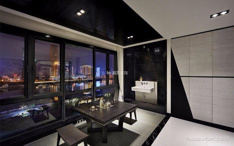 阳台黑色细节简约风格装饰设计图片