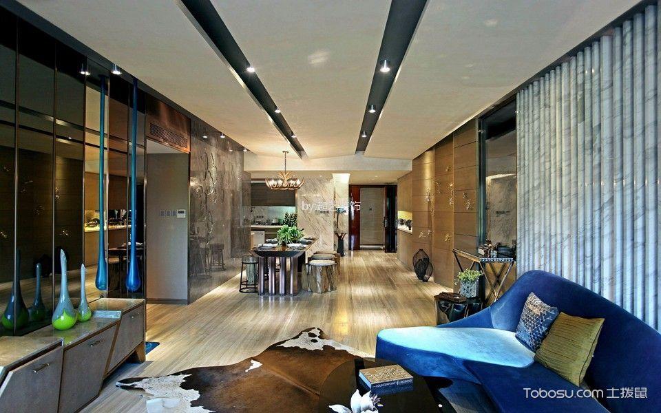 客厅彩色细节简约风格装修设计图片