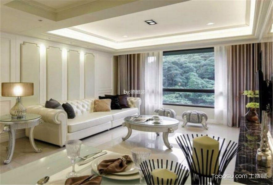 三盛托斯卡纳109㎡现代风格套房装修效果图