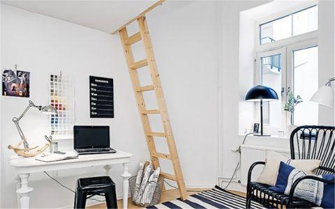 客厅书桌北欧风格装饰设计图片