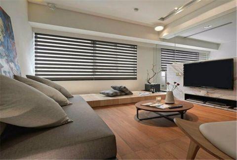 客厅榻榻米现代简约风格装饰图片