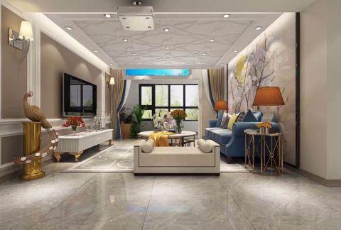 嘉铭桐城130平米现代简约风格三居室装修效果图