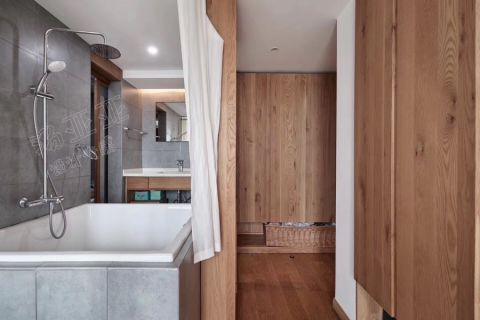 卫生间照片墙混搭风格装潢设计图片