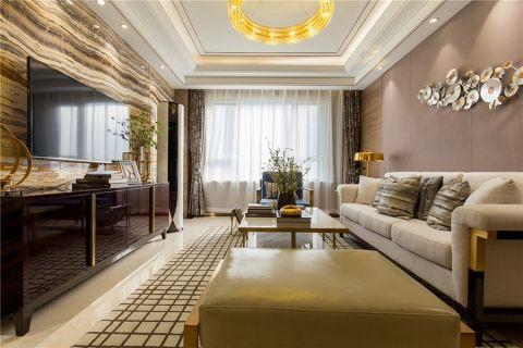 华润国际简约风格三居室装修效果图