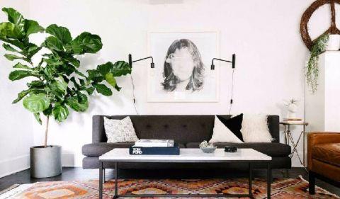 顺明轩100平现代风格两室两厅装修效果图